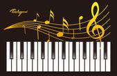 Piano Cover — Stock Vector