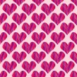 Stock Vector: Pink heart seamless pattern
