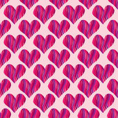 Pink heart seamless pattern — Stock Vector