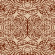 Brown art deco seamless pattern - Stock Vector