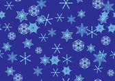 бесшовные снежинки шаблон — Cтоковый вектор
