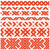 Wit-russische traditionele ornament twee — Stockvector