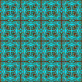 Turquoise elegant seamless pattern — Stock Vector