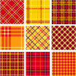 Stock Photo: Bright plaid patterns set