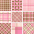 Plaid patterns — Stockfoto