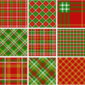 Christmas plaid patterns — Stock Photo