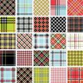 Color plaid patterns set — Stock Photo