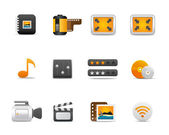 Icons Set for Web Applications, Internet & Website icons, media Icons - — Stock Vector