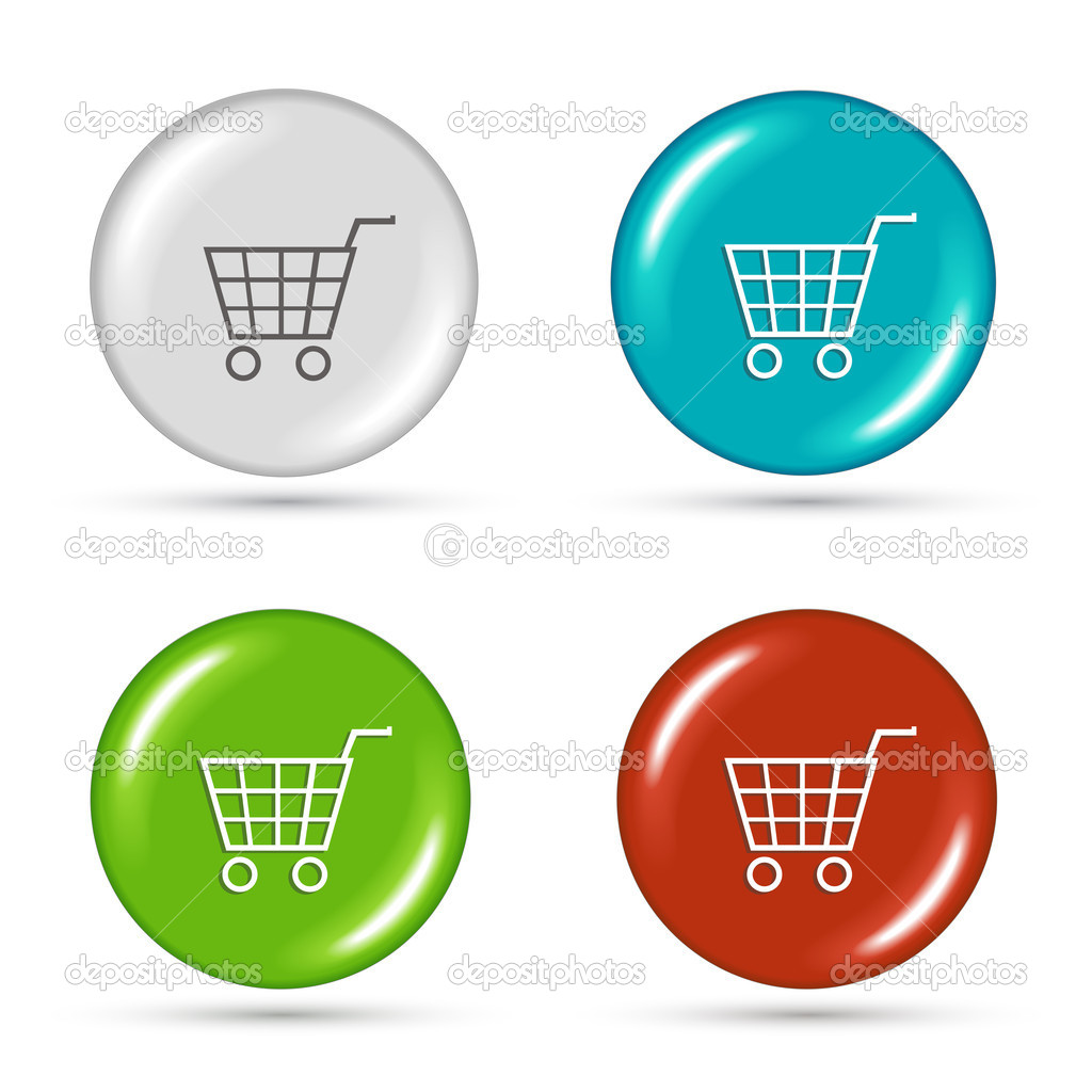 Shopping cart icon vector illustration — Stock Vector #7132572