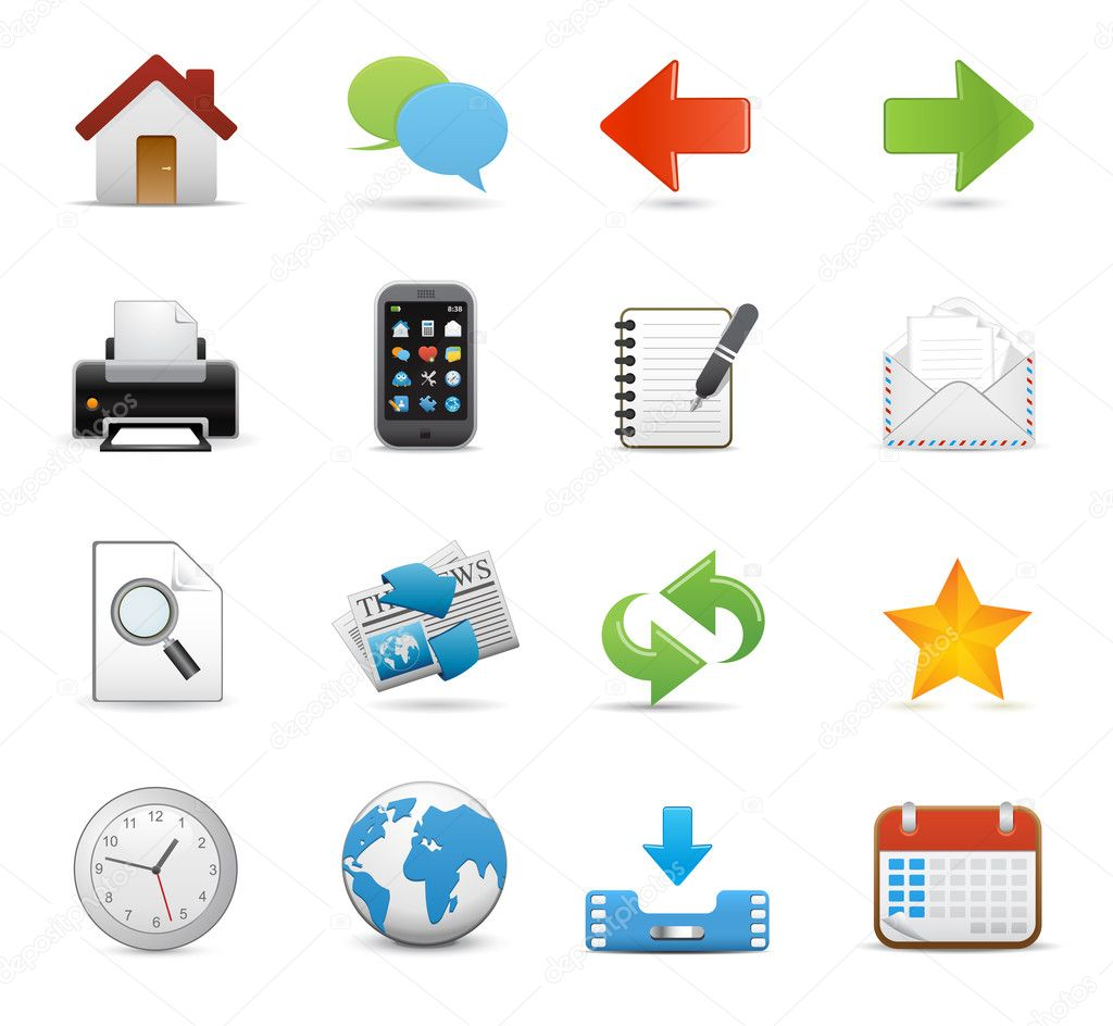 Icons Set for Web Applications, Internet & Website icons, Universal icons Set - icons, raster vector icons — Stock Vector #7132972