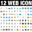 Icons Set for Web Applications, Internet &amp; Website icons, Universal ico - Imagen vectorial