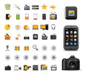 Icons Set for Web Applications, Internet & Website icons — Vector de stock