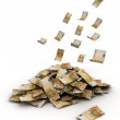 Stock Photo: Euro Falling Money fifty