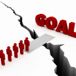 Stock Photo: Common Goal Concept red color
