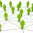 Business team Network green color — Stock Photo #7218717