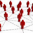Stock Photo: Business team Network red color