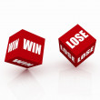 Risk Concept win and lose — Stockfoto