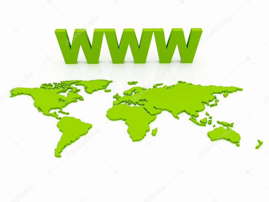 WWW World Map Globe — Stock Photo #7218120