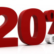 20 Percent off — Stock Photo