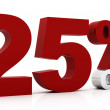 25 Percent off — Stock Photo