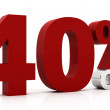 Stock Photo: 40 Percent off