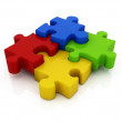 Stock Photo: Jigsaw puzzle: 3d icon isolated on white