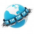Global blue Computer Network — Stock Photo #7220378