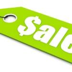 Sale ticket — Stock Photo