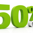 50 Percent off green color — Stock Photo #7273052