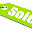 Sold ticket - Stockfoto