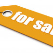 For sale ticket — Stock Photo