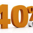 Stock Photo: 40 percent off, orange color