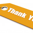 Thak you Ticket — Stock Photo