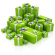 Green gifts - Stock Photo
