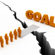 Common Goal Concept, orange color — Stock Photo