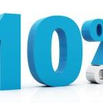 10% off colore blu — Foto Stock