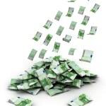 Падение деньги — Стоковое фото