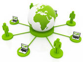Global green Network — Stock Photo
