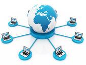 Global bilgisayar ağı — Stok fotoğraf