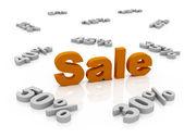 Verkauf prozentsatz isoliert auf weiss — Stockfoto