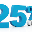25 Percent off blue color — Stockfoto
