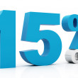 15 Percent off blue color — Stock Photo #7332464
