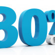 30 Percent off blue color — Stok fotoğraf