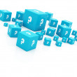 """question mark"" cubes falling — Stock Photo #7333229"