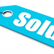 Sold ticket, blue color — Stock Photo #7333326