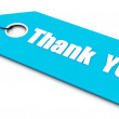Thank you ticket, blue color — Stock Photo