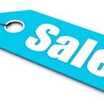 Sale ticket, blue color — Stock Photo #7333380