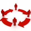 Teamwork circle, business flow - Foto de Stock