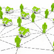 Real Estate Market, green network - Foto de Stock