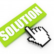 Solution button concept — Stock Photo